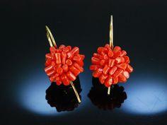 Lovely coral earrings! Traumhafte moderne Sardegna Korallen Ohrringe Ohrhänger