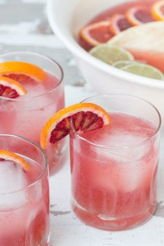 Recipe File: Blood Orange Punch Substitute Sparkling Spring Water for the champagne to make it an alcohol free delight!