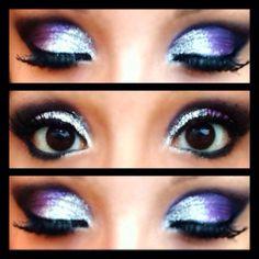 Kesha inspired glitter eye makeup