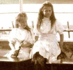 "The ""Little Pair"" the Grand Duchesses Anastasia and Maria Nikolaevna Romanova of Russia."