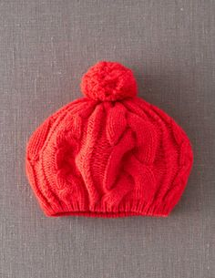 Cable Knit Hat AD138 Hats, Scarves & Gloves at Boden