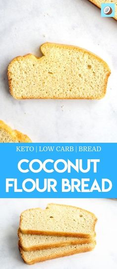 Keto Coconut Bread Beckie Mennen Keto/Low Carb Keto coconut bread is a fantastic substitute to my regular keto bread that is nut free, gluten free and slightly lower in calories. The bread is fluffy, sliceable and totally delicious. Coconut Bread Recipe, Easy Keto Bread Recipe, Coconut Flour Bread, Lowest Carb Bread Recipe, Easy Cake Recipes, Low Carb Recipes, Almond Flour, Bread Recipes, Almond Meal