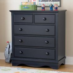 Kids Dressers: Kids Midnight Blue 2 Over 3 Drawer Dresser in Painted Midnight Blue Walden Boys Army Room, Grey Boys Rooms, Boy Room, Kids Rooms, Furniture Projects, Kids Furniture, Bedroom Furniture, Diy Projects, Boy Dresser