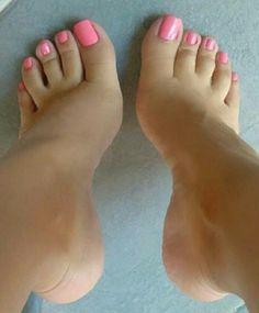 Pretty Toe Nails, Cute Toe Nails, Sexy Nails, Sexy Toes, Pretty Toes, Fun Nails, Pink Pedicure, Foot Pedicure, Beautiful Toes