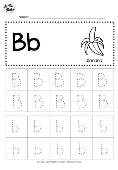 Free letter b tracing worksheets little dots education preschool printables and activ Preschool Letter B, Letter B Activities, Preschool Writing, Preschool Themes, Alphabet Tracing Worksheets, Tracing Letters, Kindergarten Worksheets, Kindergarten Class, Preschool Printables Free Worksheets