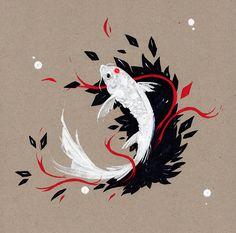 Estampe japonaise gravure estampe pinterest for Recherche carpe koi donner