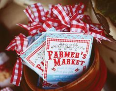 Vintage Farmers Market Birthday Party... I love the idea, fun for the whole family!!