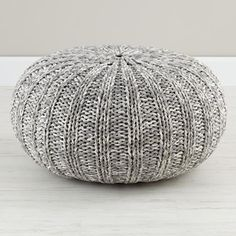 Varigated Gray Pouf - contemporary - ottomans and cubes - by The Land of Nod