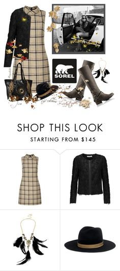 """Kick Up the Leaves (Stylishly) With SOREL: CONTEST ENTRY"" by ragnh-mjos ❤ liked on Polyvore featuring SOREL, Hobbs, Jonathan Simkhai, Betsey Johnson and Janessa Leone"
