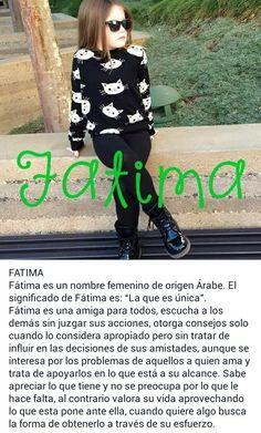 Nombres de niñas, significado de Fátima