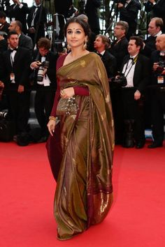 Cannes Calling ~ Vidya Balan in Amrapali  Sabyasachi - Fashion Blog - For All Things Beautiful - The Purple Window