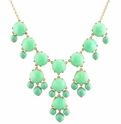"""Color Full BIB Statement Bubble Necklace - Mint"" Statement necklaces are a key piece to any outfit. Whether the necklace is very blindly are jut a long simple necklace, it is an easy way to add some flair to an outfit. -Adair M."