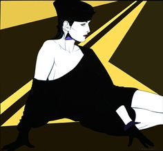 Patrick Nagel 80s Fashion Illustration - Nagel was one of my favorite artists...used to emulate his works. He is the one who designed Duran Duran's Rio cover.