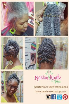 Starter locs with extensions