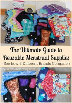 The Ultimate Guide to Reusable Menstrual Supplies (6 Different Brands Compared + Win Your Own Stash Worth Over $300!) - Red and Honey