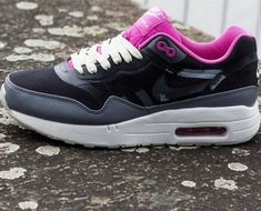 promo code bdb25 ae732 Nike WMNS Air Max 1 Black   Cool Grey Club Pink Sail  nikefreeshoes  nike