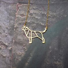 Labrador necklace, Labrador Retriever Jewelry, Dog Necklace, Origami Necklace, Dog Pendant, Dog loss, Pet Gift, Gift for pet lover by glorikamishop on Etsy