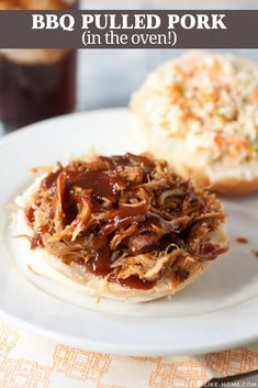 BBQ Pulled Pork Sandwiches: Forget the crockpot for pulled pork! Roast your spice-rubbed pulled pork low and slow for a few hours and top it with a TO DIE FOR homemade BBQ sauce on your sandwiches! Oven Recipes, Jam Recipes, Pork Recipes, Slow Cooker Recipes, Pizza Recipes, Turkey Recipes, Grilling Recipes, Dinner Recipes, Pulled Pork Oven
