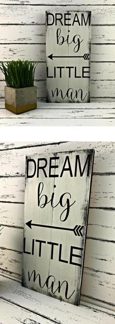 Dream Big Little Man Sign. Nursery Décor. Baby's Room. Baby Boy. Baby Shower Gift. Baby Décor. Son's Room. Son. Gifts for Son. #affiliatelink