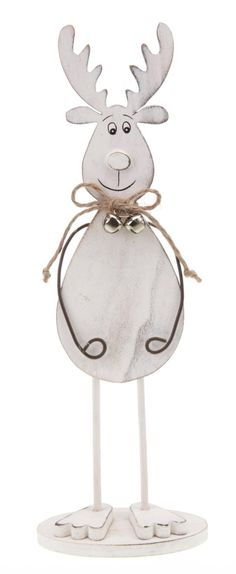 Cream Wooden Reindeer Ornament By Heaven Sends