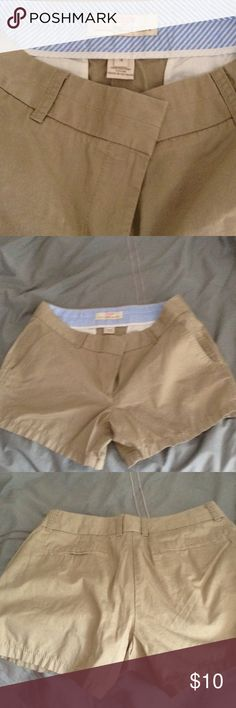 Preppy khaki Sz 4 both 2 pair for 1 tan and navy Bundle with some shirts and have great closet upgrade for summer J. Crew Shorts