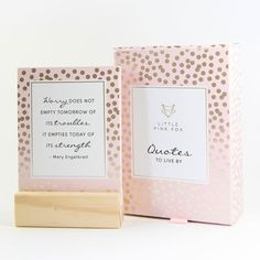 Little Pink Fox - Quotes to Live By Fox Quotes, Magnetic Gift Box, Pink Fox, Quotes To Live By, Card Stock, Bliss, Enabling, Words, Paper