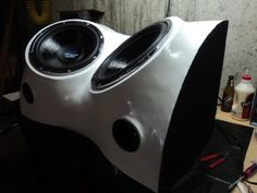 Build a Fiberglass Subwoofer, Start to Finish : 8 Steps (with Pictures) - Instructables Truck Subwoofer Box, Custom Subwoofer Box, Diy Subwoofer, Subwoofer Box Design, How To Fiberglass, Car Audio Installation, Speaker Box Design, Car Sounds, Car Audio Systems