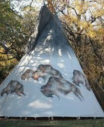 The Dancing Buffalo tipi is a great place to camp. #glamping #texas tipi