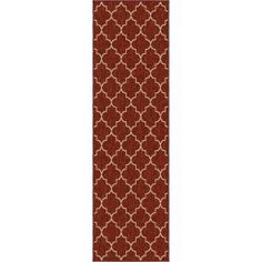 Orian Rugs Williams Cinnabar 2 ft. 3 in. x 8 ft. Indoor Rug Runner 278859 at The Home Depot - Mobile