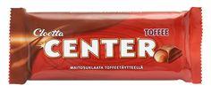 Cloetta Center Toffee - levynä tai nappirullana tai irtokarkkinappeina (levy n. 0,95-0,99€/kpl)
