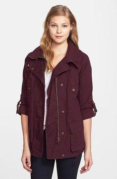 maroon military jacket