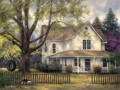 Chuck Pinson Simple Country print for sale. Shop for Chuck Pinson Simple Country painting and frame at discount price, ships in 24 hours. Farm Paintings, Country Paintings, House Paintings, Beautiful Paintings, Beautiful Landscapes, Landscape Art, Landscape Paintings, Arte Country, Farm Art