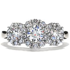 Beloved 3-Stone Engagement Ring #diamonds #EngagementRing | heartsonfire.com