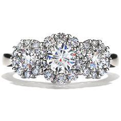 Beloved 3-Stone Engagement Ring #diamonds #EngagementRing   heartsonfire.com
