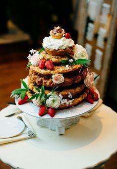 Stacked pies wedding dessert