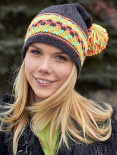 Checkered Hat | Yarn | Free Knitting Patterns | Crochet Patterns | Yarnspirations