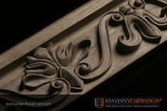 Exclusive finish of mouldings - CNC milled+hand carved