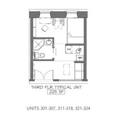 Most Common Floor Plan in the Apartments at the Arcade Mall