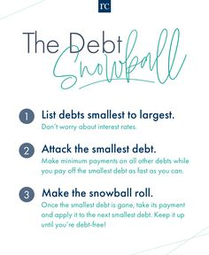 The proven method to pay off debt FAST! Rachel Cruze, Life On A Budget, Debt Snowball, Get Out Of Debt, Debt Payoff, Financial Tips, Debt Free, Getting Out, Budgeting