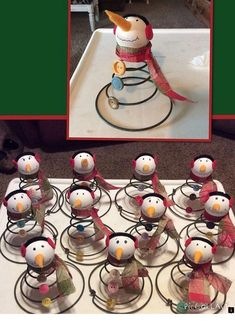 Discover thousands of images about Snowman's made from Old Bed Springs & Vintage Buttons Primitive Christmas, Rustic Christmas, Winter Christmas, Vintage Christmas, Christmas Holidays, Christmas Decorations, Christmas Ornaments, Christmas Bells, Snowman Ornaments
