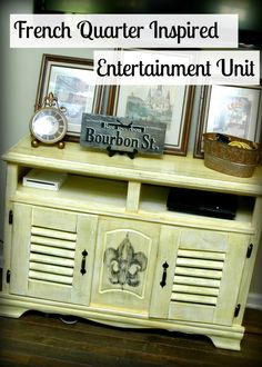 Simple DIY:: French Cottage Entertainment Center Tutorial