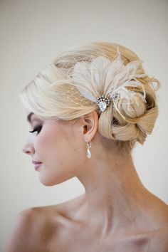 """hilarious...this is called """"CALI"""". Love the hair, and the accessory, maybe in coral to match the bridesmaid shoes?"""