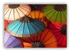 Photographie Voyages Luang Prabang  Laos ombrelles