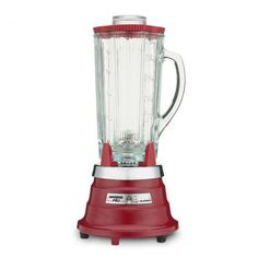 Liven up your kitchen with a Waring Pro Food & Beverage Blender in Chili Red! Mix your favorite frozen drinks, and more, in this sturdy, solid, high-performance blender. Small Kitchen Appliances, Home Appliances, Home Bar Essentials, Professional Blender, Red Bar, Thing 1, Specialty Appliances, Cooking Utensils, Glass Jars