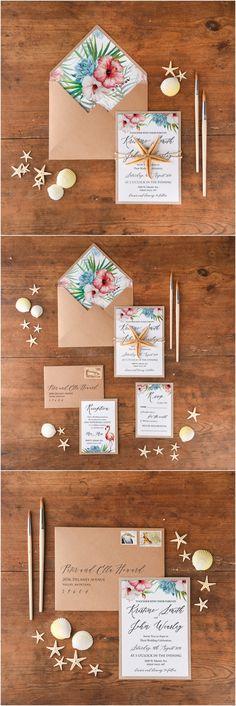 Ideas for Diy Beach Theme Wedding Invitations - invates Abroad Wedding Invites, Beach Theme Wedding Invitations, Diy Invitations, Wedding Stationary, Seaside Wedding, Diy Wedding, Trendy Wedding, Wedding Ideas, Wedding Photos