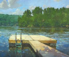 lake and dock , colin page Lake Painting, Artist Painting, Lake Art, Painting Workshop, Paintings I Love, Small Art, Urban Landscape, Painting Inspiration, New Art