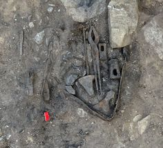 (20th April 2015) WITH HIS HAMMER IN HIS HAND: A well-stocked grave of a blacksmith from the Viking Age was one of the best finds in Norway of 2014, according to Norwegian archaeologists.