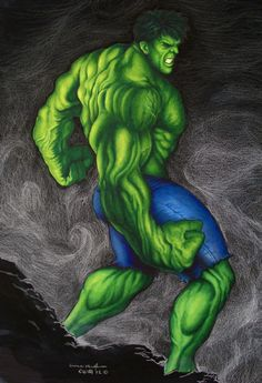 The Avengers Series: The Incredible Hulk by Eric W. Meador Comic Art