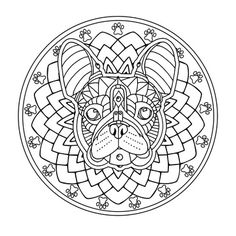 """The French Bulldog is one of the most shared images from my """"Decorative Dogs"""" coloring book. Isn't he a cutie? See it here: https://www.amazon.com/Decorative-Dogs-Coloring-Featuring-Serenity/dp/1944943013"""
