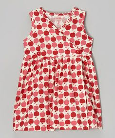 Love this, $23.99. Smiling Button Red Apple Button Wrap Dress - Infant, Toddler & Girls by Smiling Button #zulily #zulilyfinds